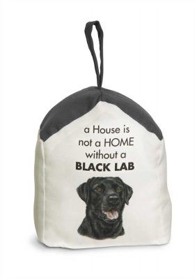 Black Lab Door Stopper 5 X 6 In. 2 lbs. - A House is Not a Home