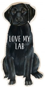 Black Lab Shaped Magnet By Kathy
