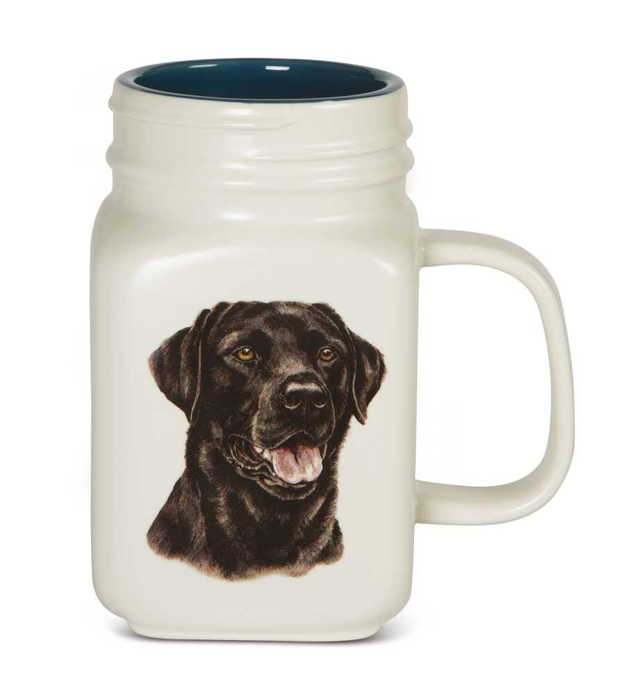 Black Lab 21 Oz. Ceramic Mug Mason Jar - All You Need Is Love