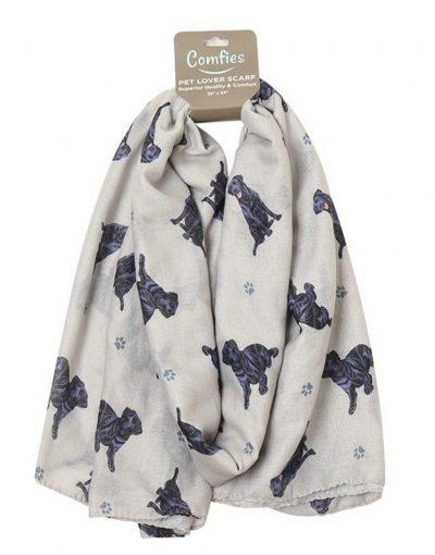 Black Lab Scarf -Lightweight Cotton Polyester