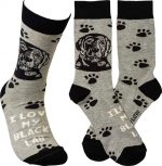 I Love My Black Lab Socks By Kathy