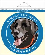 Black Labrador Car Magnet 4x4""