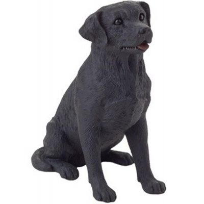 Black Labrador Figurine Hand Painted – Sandicast 1