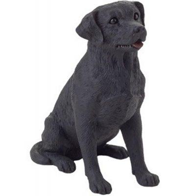 Black Labrador Figurine Hand Painted - Sandicast