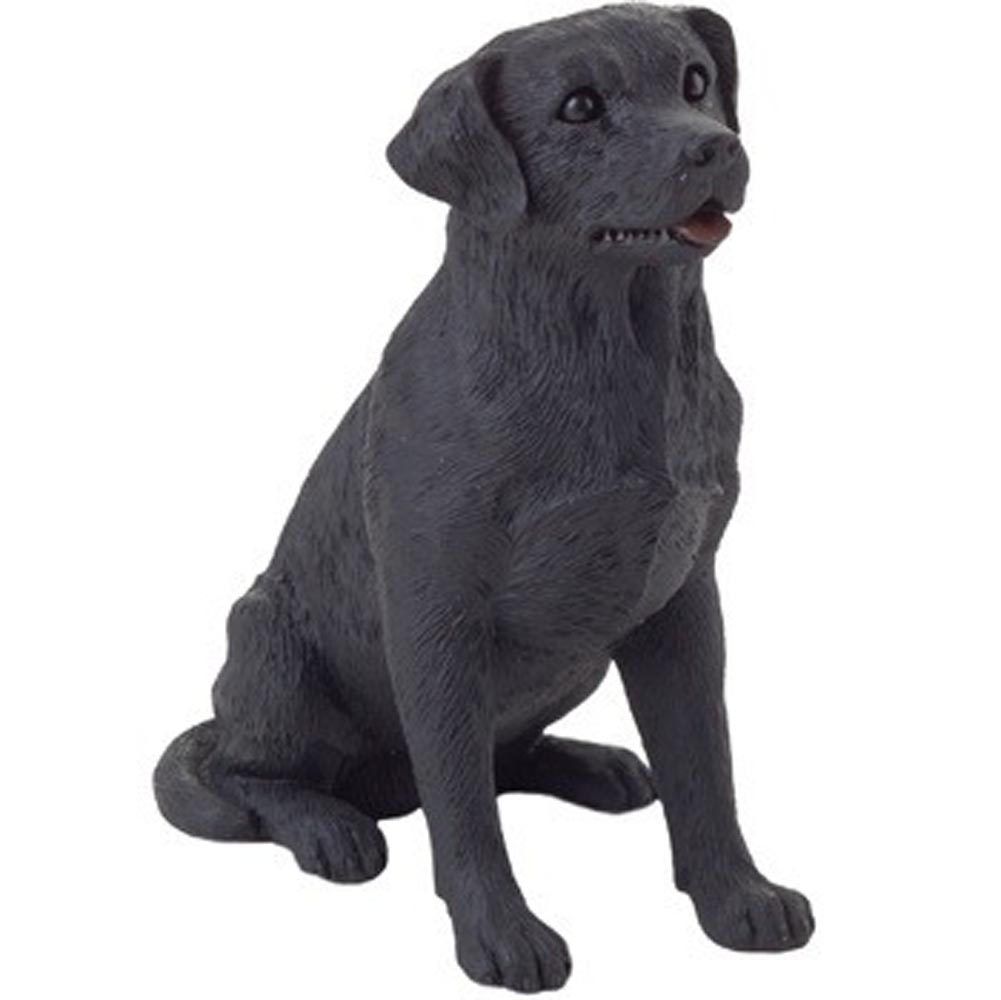 Black Labrador Figurine Hand Painted - Sandicast