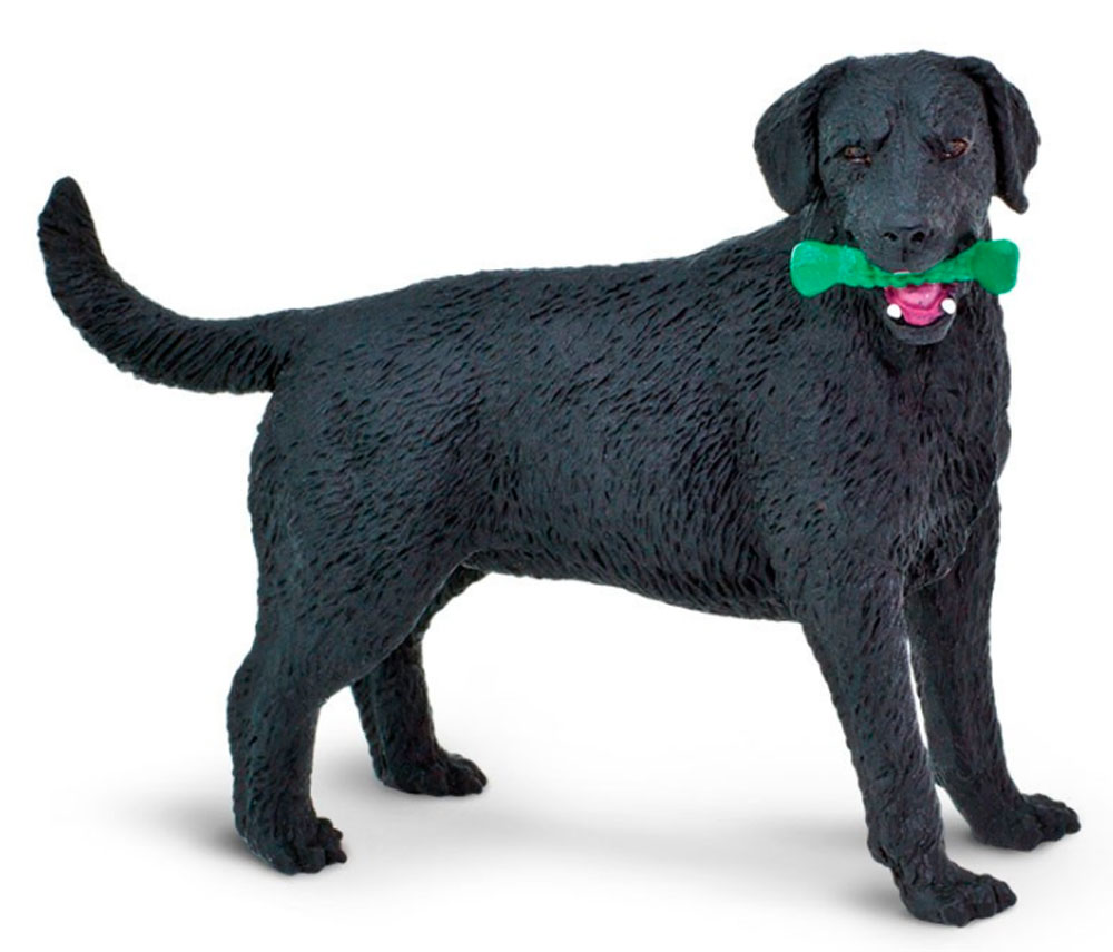 Black Labrador Figurine Toy
