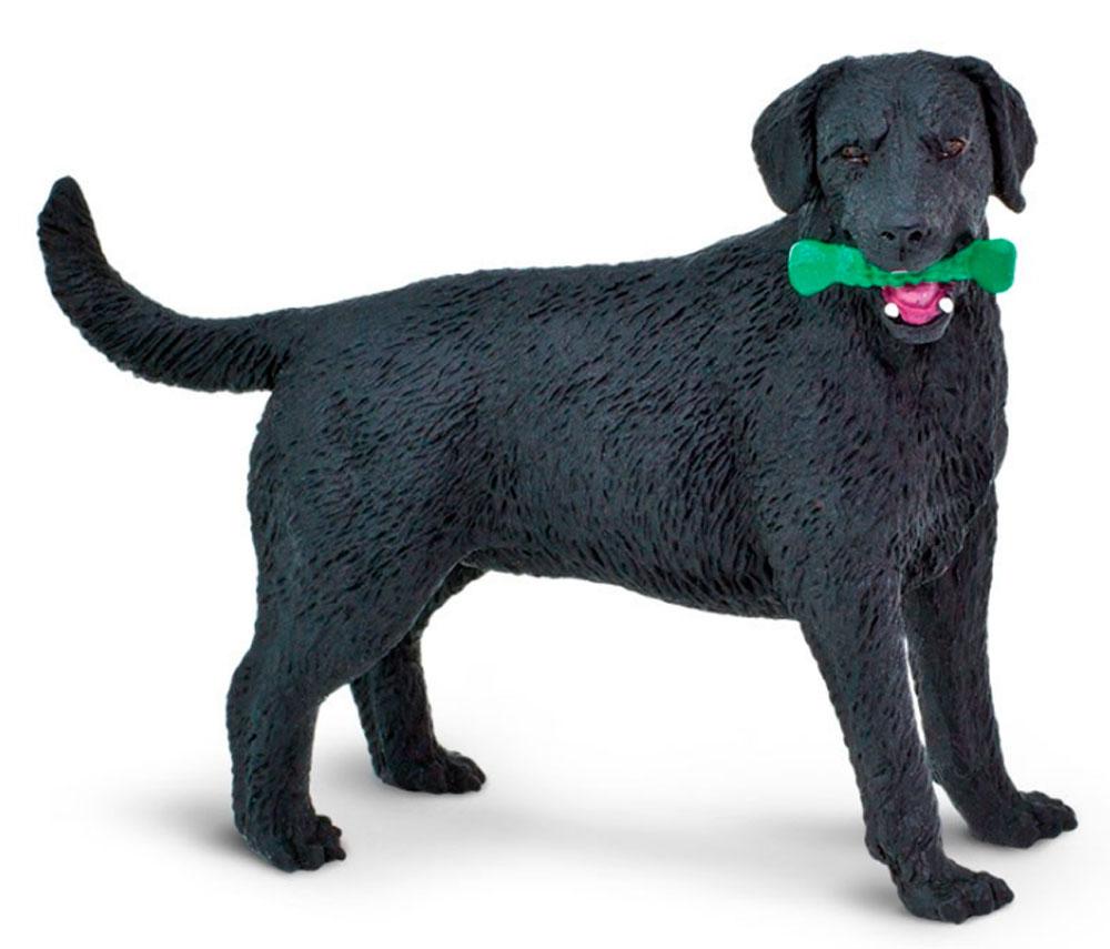 Black Labrador Figurine Toy