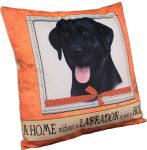 Black Labrador Pillow 16x16 Polyester