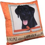 Black Labrador Pillow 16×16 Polyester 1