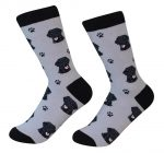 Black Lab Face Pattern Socks