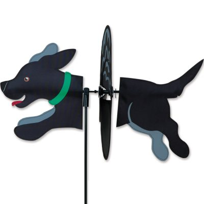 Black Labrador Garden Wind Spinners 1