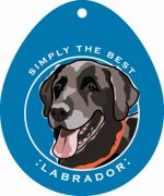 "Black Labrador Sticker 4x4"""