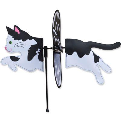 black-white-cat-garden-wind-spinner