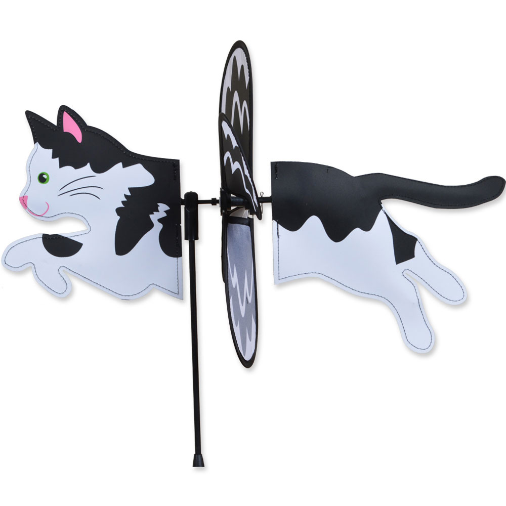 black-white-cat-garden-wind-spinner