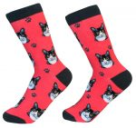 Black & White Cat Face Pattern Socks