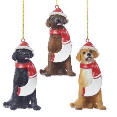 black-yellow-chocolate-labrador-resin-ornament