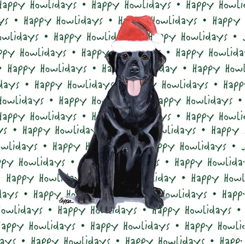 Black Labrador Dog Coasters Christmas Themed
