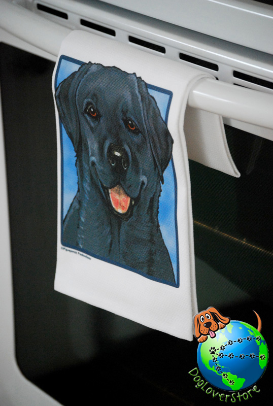 Black Lab Kitchen Hand Towel