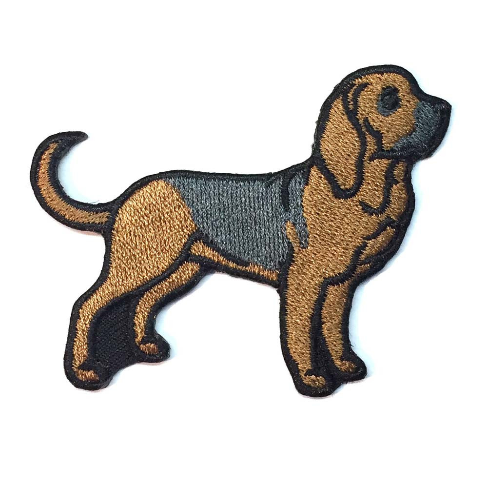 Bloodhound Iron on Embroidered Patch