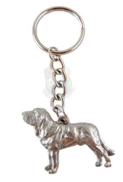 Bloodhound Keychain - Pewter