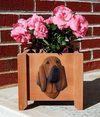 Bloodhound Planter Flower Pot Red 1