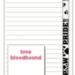 Bloodhound Dog Notepads To Do List Pad Pencil Gift Set 1