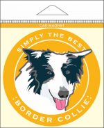 Border Collie Car Magnet 4x4""