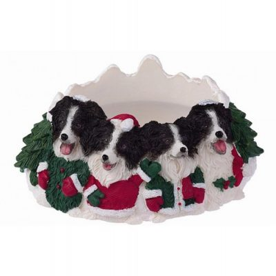 Border Collie Holiday Candle Topper Ring 1
