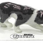 Border Collie Hand Painted Porcelain Miniature Figurine 1
