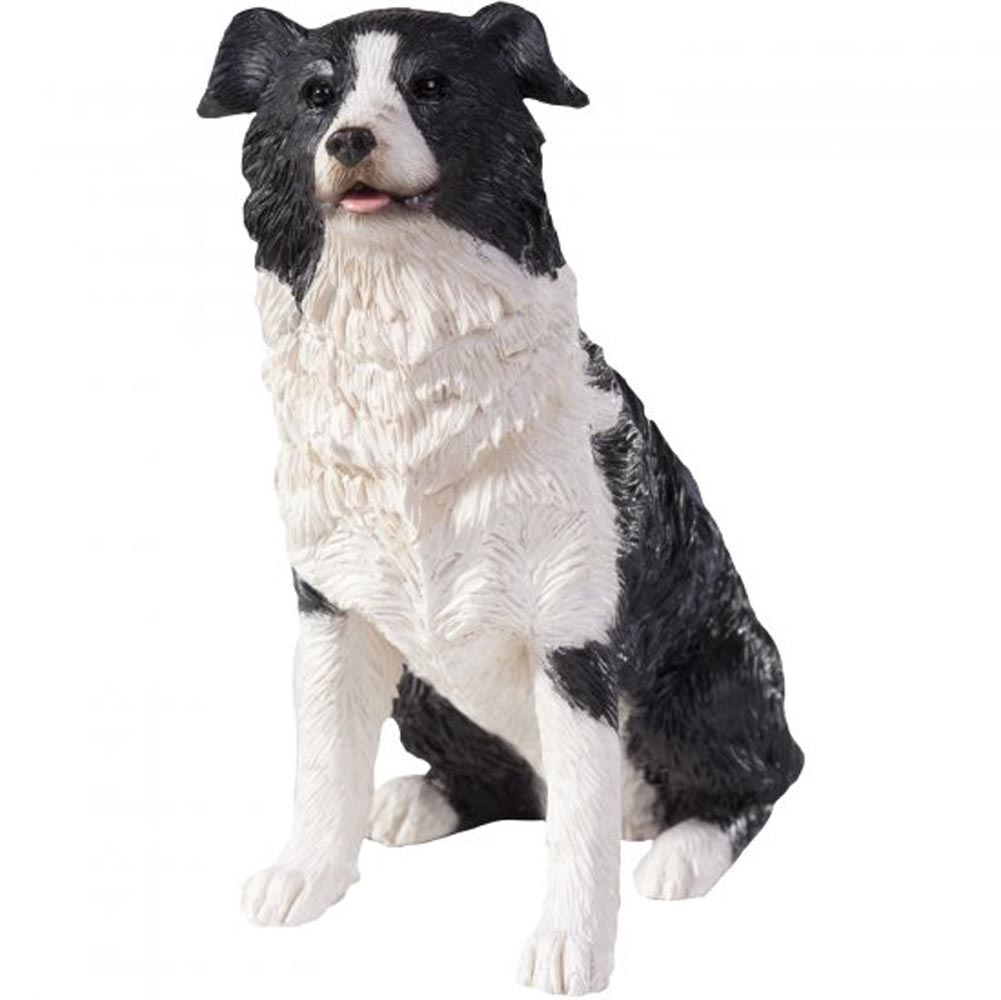 Border Collie Figurine Hand Painted Sandicast