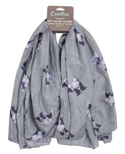 Border Collie Scarf -Lightweight Cotton Polyester
