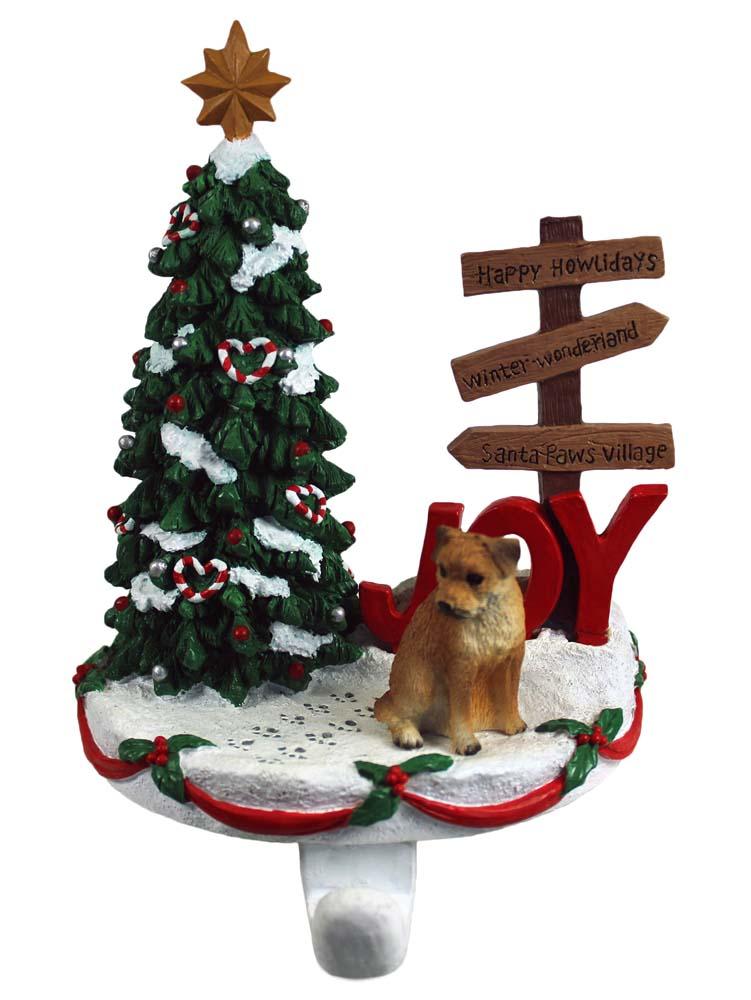 Border Terrier Stocking Holder Hanger