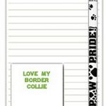 Border Collie Dog Notepads To Do List Pad Pencil Gift Set 1