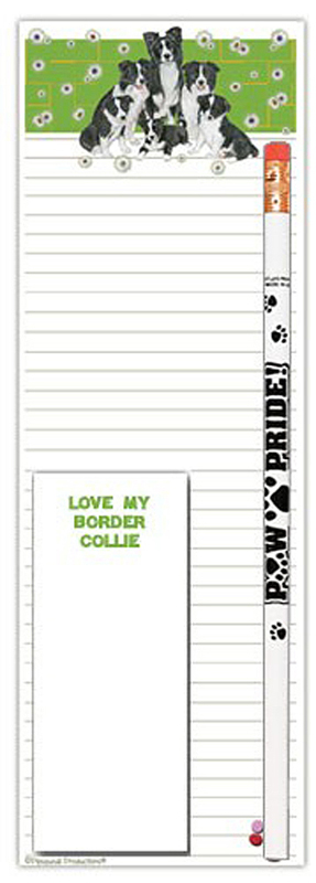 Border Collie Dog Notepads To Do List Pad Pencil Gift Set