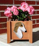 Borzoi Planter Flower Pot Bi