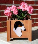 Borzoi Planter Flower Pot Tri