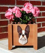 Boston Terrier Planter Flower Pot Seal