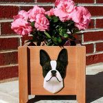 Boston Terrier Planter Flower Pot Brindle 1