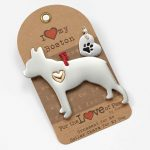 Boston Terrier Holiday Ornament & Collar Charm Set