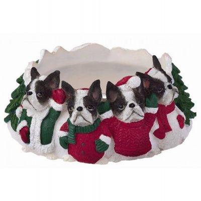 Boston Terrier Holiday Candle Topper Ring 1