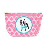Boston Terrier Zippered Makeup Travel Bag