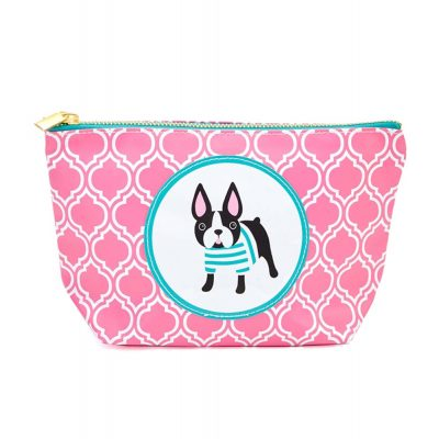 Boston Terrier Zippered Makeup Travel Bag 1