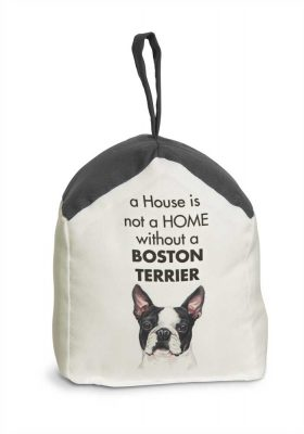 Boston Terrier Door Stopper 5 X 6 In. 2 lbs. - A House is Not a Home