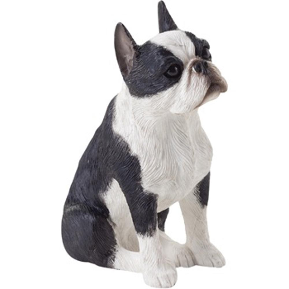 Boston Terrier Figurine Hand Painted - Sandicast