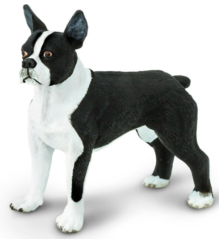 Stuffed Boston Terrier Dog Toy