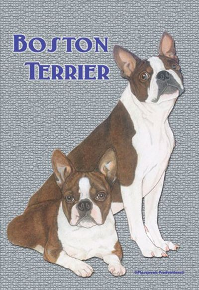 Boston Terrier Garden Flag 12
