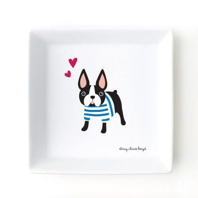 Boston Terrier Jewelry Trinket Dish