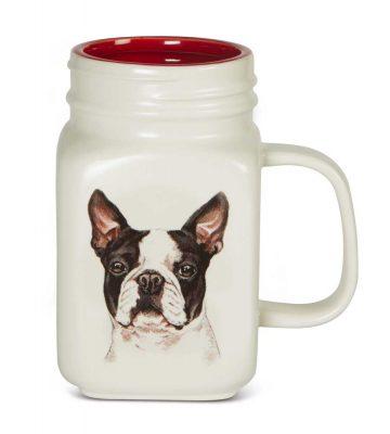 Boston Terrier 21 Oz. Ceramic Mug Mason Jar - All You Need Is Love