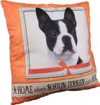 Boston Terrier Pillow 16x16 Polyester