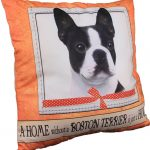 Boston Terrier Pillow 16×16 Polyester 1